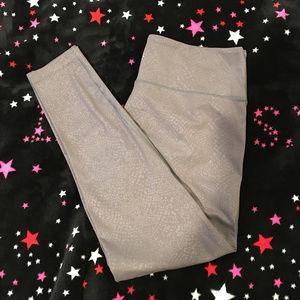 Athleta grey snakeskin print (Large) tights